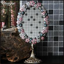 metal makeup dressing table desktop standing cosmetic mirror adesivo de parede mirror in the frame decorative mirror gift J050(China)