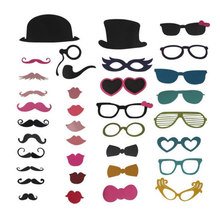 Paper wedding Prop 36pieces/set  wedding props bearded lips Yingbin wacky fun party items