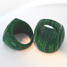 New Item Malachite Ring Natural Stone Ring Beautiful Fashion Wedding Gift 18# 19# 20# For Choose Free Shipping 1pc/Lot