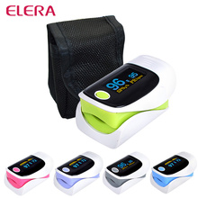 ELERA Health Care OLED Display CE FDA Fingertip Pulse Oximeter oximetro de dedo oximetro pulse oximeter alarm setting 5 color
