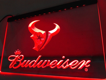 LD295- Houston Texans Budweiser Bar NR LED Neon Light Sign home decor crafts(China)