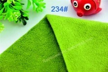 234# deep green Super soft velvet fabric microfiber brushed velboa hair height 2-3mm for DIY toy blanket pillow(1 meter)(China)