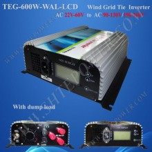 On grid tie inverters 600w pure sine wave inverter, wind grid-connected inverter 3phase ac 22-60v input to ac 100v, 110v, 120v