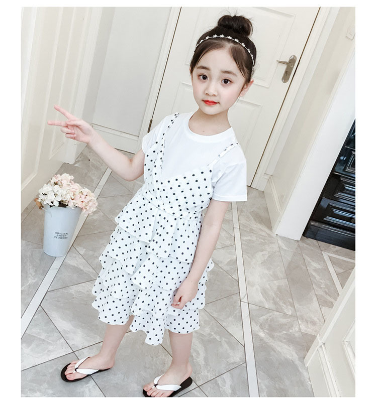 2 Pcs Teenage Girls Clothing Sets Kids Outfits Baby Girls Fashion Clothing Sets Kids Sleeveless Dress And T Shirts Clothes Suits 8 Online shopping Bangladesh