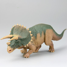 Triceratops Simulation Model Dinosaur Plastic Animal Toys for Children Shooting Film Props Dinosaur Models Christmas Gifts