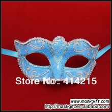 Free Shipping Wholesale 100% Handpainted Light Blue And Silver Different Designs Of Venetian Masks