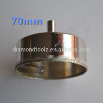 Talentool 70mm Hand Tools Electroplated Diamond Drilling Glass Hole Saw Cutter Bit for Glass Drilling<br><br>Aliexpress