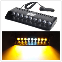 02007 Car Warning Lights 9 LED Amber Lasting Yellow Emergency Light Vehicle Car Strobe Flash Light Warning Dash Lamp 1W Switch