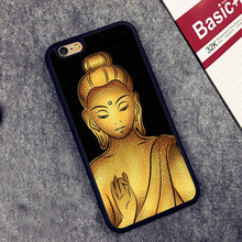 Tiny Buddha Gold Printed Phone Case Cover Coque For iPhone 6 6S Plus 7 7 Plus 5 5S 5C SE 4 4S Rubber Soft Fundas