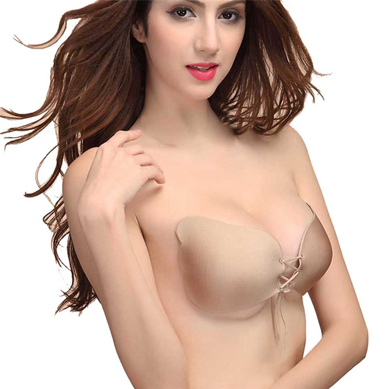 dc99fd1789 2019 Tready Style New Sexy Push Up Seamless Bra Adhesive Silicone ...