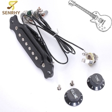 Black Copper Single Magnetic Coil Acoustic Guitar Pickup With Volume Tone Control Guitar Parts Accessories