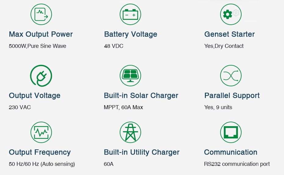 EASUN POWER 10KW 450Vdc Solar Inverter 80A MPPT Parallel Inverter 48V 230V Pure Sine Wave Hybrid Inverter 80A Battery Charger_02