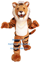 Deluxe Striped Tiger Mascot Adult Size Character Wild Animal Beast Theme Mascotte Mascota Outfit Suit Kit Fit Carnival SW1115