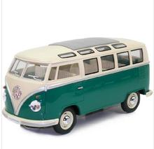 KINGSMART 1962 Volkswagen 1:24 Scale Diecast Bus Toys Onibus, Door Openable Alloy Model Car Toy For Children(China)
