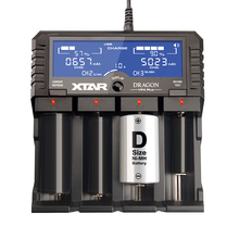Original XTAR DRAGON VP4 PLUS Smart Battery Charger Set with Pouch Probes Adapter and Car Charger for 18650 and Battery Pack etc