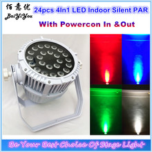 Aluminum Not Waterproof Case With Powercon In Out Used Indoor No Cooling Fan No Noise 24pcs*12W RGBW 4In1 LED Par64 Light(China)