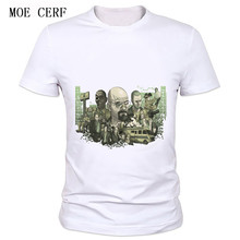 MOE CERF Tops Tees Short Sleeves O-Neck white T shirt Men Printed Hip Hop T-shirt Breaking Bad Factory direct sale C-71#(China)