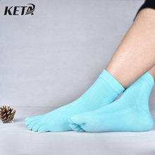 KETA New Fashion Colorful Finger Women's Socks Female Solid Casual Cotton Toe Socks Ladies Brand Five Finger Socks (6Pairs/lot)(China)