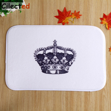 Buy Cilected White King Crown Carpet Living Room Bedroom Bathroom Prayer Outdoor Toilet Anti-slip Mats Home Decor Floor Rugs for $6.99 in AliExpress store