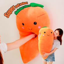 Manufacturers selling Carrot plush toys creative cartoon pillow Anime toy baby kids sleep appease doll birthday/Xmas gift(China)