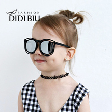 db3e723cf9 Children Plastic Round Sunglasses Boy Coating Circular Eyewear Cool Safety  Kids Girl Cute Pink Brand Glasses
