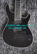 free shipping new 7 strings fanned fret electric bass guitar in black with rosewood fingerboard made in China JT-2