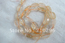 Natural Citrin e Quartz 10x14mm Faceted Oval Yellow Crystal Gem Stone Beads.5 strings/lot,40 cm/string.
