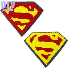 Superman Reverse Sequins Sew On Patches for clothes kids Clothing  Reversible Change Color Patch Applique fa39b8a527f0