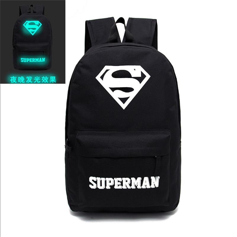 Women Men Backpack Limited Softback Mochilas Exo 2017 New Backpack Bag Canvas Schoolbag Luminous Male Leisure Superman Monster<br><br>Aliexpress