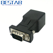 Extender VGA RGB HDB 15pin Male to LAN CAT5 CAT6 RJ45 cat6 Network Cable Female Adapter adaptor connector RJ45