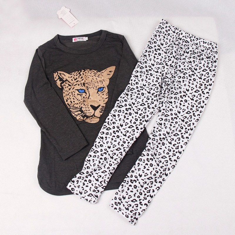 2017 New Baby Girls Clothing Set Children long sleeve t-shirt + Pants 2 pcSet Kids Clothes Casual Suits free shipping<br><br>Aliexpress