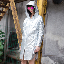 2017 Autumn New Fashion Trench Coat for Women Loose Hooded Long Sleeve Cotton Solid Color Zipper Casual Fro Women Trench Coat