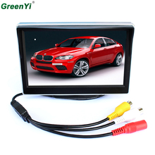 New TFT LCD Monitors 5 inch Car monitor Video Player Electronic Screen 2CH Video For Car Rear View Cameras Equipment(China)