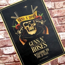 Guns n 'roses Nostalgic retro posters Kraft paper, Large decoration bar The coffee shop drawing core