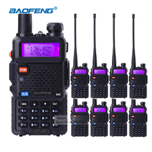 8 Pieces/lot Interphone Baofeng UV-5R Walkie Talkie VHF 136-174 MHz & UHF 400-520 MHz Dual Band Portable Radio 5W Two Way Radio(China)