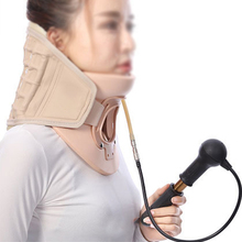 High Quality Healthy Product Cervical Collar Traction Neck Brace Support Strap Therapy Device neck Massager For Man And Woman(China)