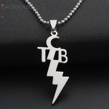 10PCS/Lot TCB Elvis Pendant Necklace Flash Chain Necklace for Men's and women's Wholesale(China)