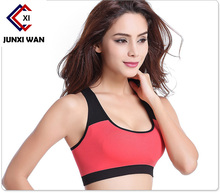 Women Sports Bra Professional Athletic Fitness Padded Stretch Workout Vest Seamless Running Gym Wireless Underwear Bras WWX0040