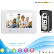 XSL-V70H-M2 1V1 7 Inch security Intercom system Video Door Phone work with electronic door Intercom System