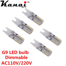 12PCS 64LED  3014SMD LED G9 LED lamp light 110V 220V  Replace 100W halogen lamp 360 Beam Angle LED Bulb lamp Candle Luz