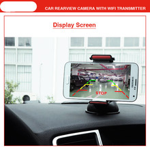 car wifi camera HD Transmitter +170 wide angle w Guiding Line reverse camera led for safe parking mirror camera IOS Android