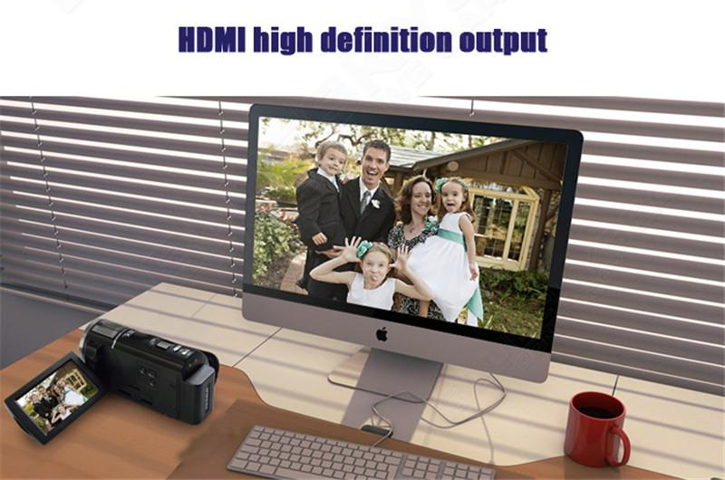 "ORDRO HDV-F5 1080P Digital Video Camera Max 24MP 16X Anti-shake 3.0"" Touch Screen LCD Camcorder DV With Remote Controller 8"