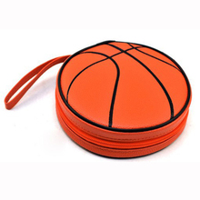 Malloom 2017 Basketball shape 24CD Game DVD PU leather Disc Organizer Wallet Storage Sheet Case Holder Carry Bag Wholesale(China)