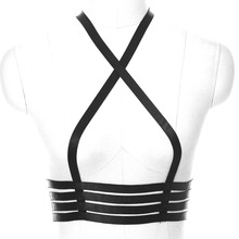 Buy BODYCAGE Womens Fashion Sexy Body Harness Belts Strappy Tops cage Bra Bondage Lingerie Adjust Size Goth Erotic Halter Bustier