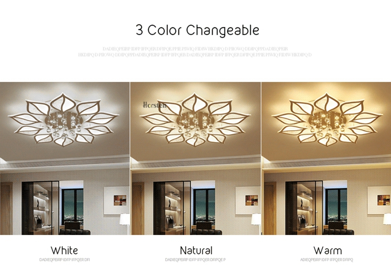 Modern Luxury Crystal LED Ceiling Chandelier Lights With Remote Control Living Room Bedroom Light Acrylic Ceiling Lamp Home Lighting 220V (2)