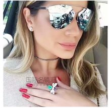 Brand EyeGlow women's sunglasses Reflectedp high quality metal sunglasses laser font never fade export fiery commodity 5 colors