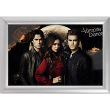 Silver Color Aluminum Alloy poster Frame Home Decor Custom Canvas Frame The Vampire Diaries Canvas Poster Frame F170112#76(China)