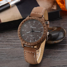 Fashion PU Leather Lovers' Jewelry Watch Analog Clock Quartz Unisex Luxury Women Watches Classic Ladies Watch Men Regolio