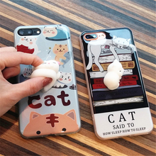 Buy Lovely 3D Soft lazy cat phone Cases iphone 6 6s 6plus 7 7Plus cartoon Soft TPU phone back Case iphone 7 7 plus cover for $3.15 in AliExpress store
