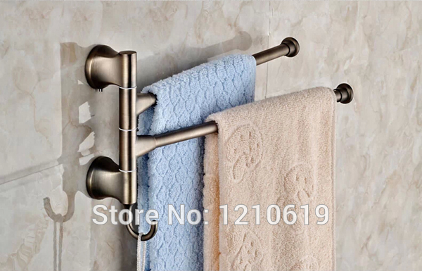 Newly US Free Shipping Retro Style Antique Bronze Bathroom Movable Bath Towel Bar Towel Holder Rack Stainless Steel Wall Mounted<br>